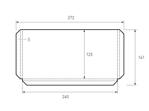 Штамп для кармана 240x125x5. Привью 500x375 пикселов