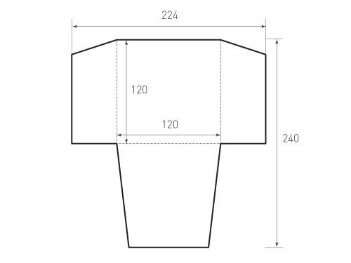 Квадратный конверт 120x120. Превью 500x375 пикселей