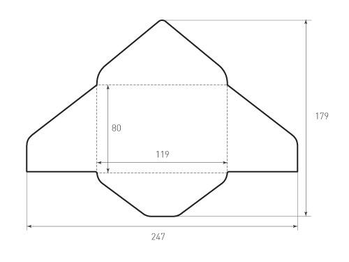 Конверт горизонтальный 119x80. Превью 500x375 пикселей