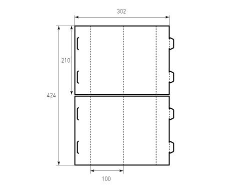 Штамп для домик 210x100 2 штуки. Привью 500x375 пикселов