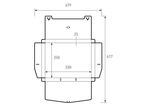 Штамп для портфеля 330x250x25. Привью 500x375 пикселов