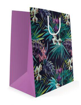 540x395 Праздничный бумажный пакет к 8 марта Тропические цветы