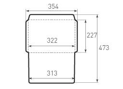 Ц4 горизонтальный конверт 322x227, 2 штуки