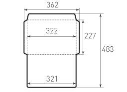 Ц4 горизонтальный конверт 322x227, старый формат