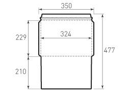 Ц4 горизонтальный конверт 324x229, курьерский, зиг