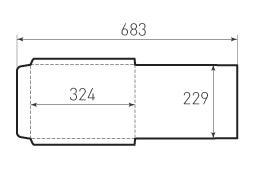 Ц4 вертикальный конверт 229x324 под тонкую бумагу