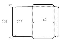 Ц5 горизонтальный конверт 229x162. 2 штуки