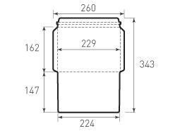 Ц5 горизонтальный конверт 229x162, курьерский
