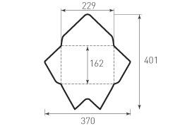 Ц5 горизонтальный конверт 229x162, треугольный клапан, 2 штуки
