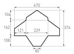 Ц5 горизонтальный конверт 229x162, треугольный клапан