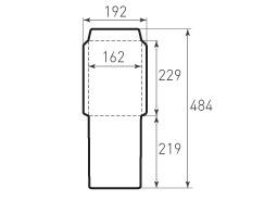 Ц5 вертикальный конверт 162x229 для индиго бумаги