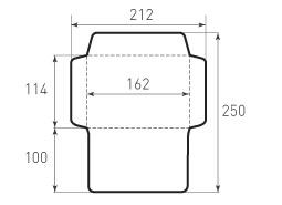 Ц6 горизонтальный конверт 162x114