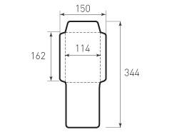 Ц6 вертикальный конверт 114x162