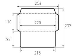 Евро горизонтальный конверт 220x110, 1 штука