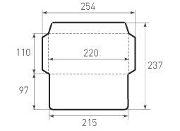 Евро горизонтальный конверт 220x110, 2 штуки, для индиго