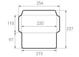 Евро горизонтальный конверт 220x110, 2 штуки