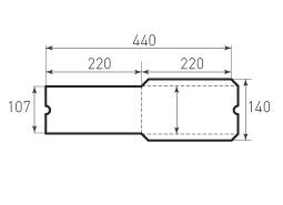 Евро вертикальный конверт 110x220, без клапана