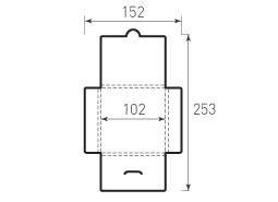 Квадратный конверт с толщиной 102x102x4
