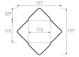 Квадратный конверт 115x115