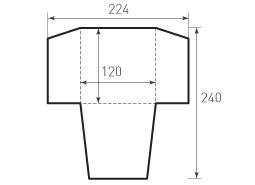 Квадратный конверт 120x120