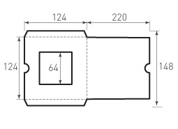 Квадратный конверт 124x124