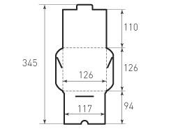 Квадратный конверт 126x126 для СД