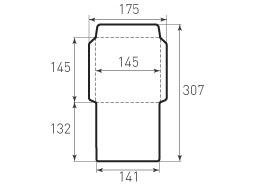 Квадратный конверт 145x145