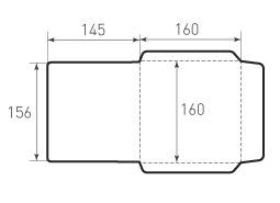 Квадратный конверт 160x160