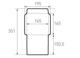 Квадратный конверт 165x165