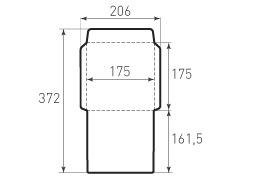Квадратный конверт 175x175