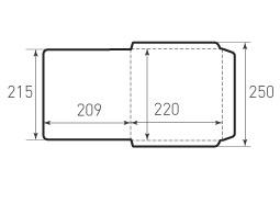 Квадратный конверт 220x220 2 штуки