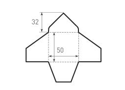 Квадратный конверт с треугольным клапаном 50x50