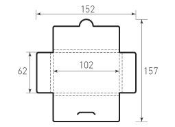 Горизонтальный конверт 102x62x4, с толщиной
