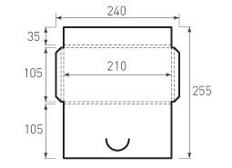 Горизонтальный конверт 105x210x5, 1 штука Перегуд