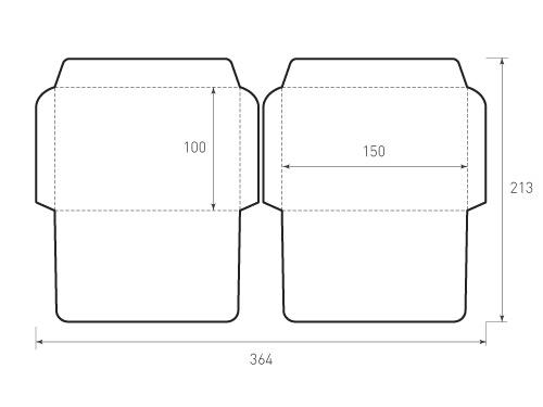 Горизонтальный конверт 150x100, 2 штуки, 500x375 пикселей