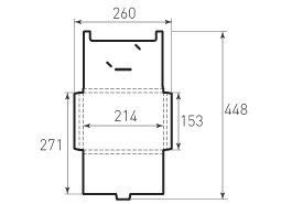 Горизонтальный конверт с толщиной 214x153x10