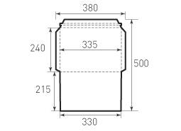 Горизонтальный курьерский конверт 335x240