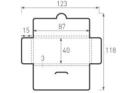 Горизонтальный конверт 87x40x3, с толщиной