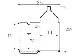 Вертикальный конверт с толщиной 101x151x10