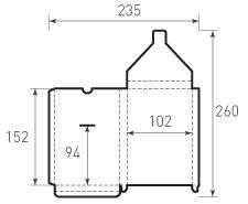 Вертикальный конверт с толщиной 102x152x11