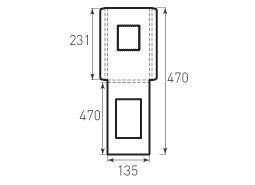 Вертикальный конверт с толщиной и окном 135x231x8
