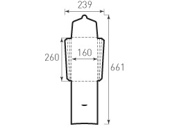 Вертикальный конверт с толщиной 160x260x24