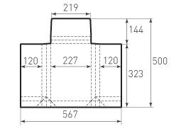 Вертикальный конверт с толщиной 227x325x50