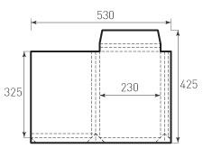 Вертикальный конверт с толщиной 230x325x30