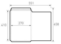Вертикальный, с отрывным клапаном конверт 270x410
