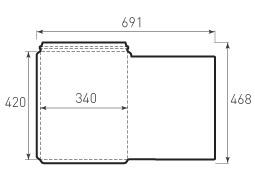 Вертикальный, с отрывным клапаном конверт 340x420