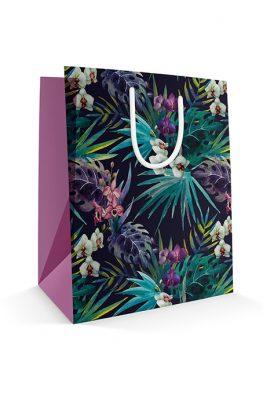 Бумажный пакет Тропические цветы