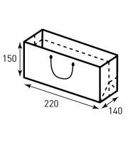 Схема горизонтального бумажного пакета