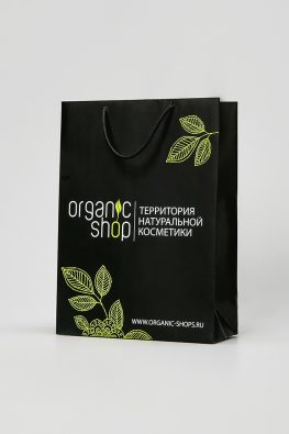 """Бумажный пакет """"Organic Shop"""""""