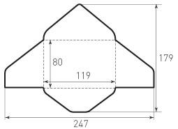 Горизонтальный треугольный конверт 119x80